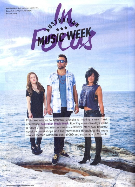 Featured in this weeks copy of 'The Music'.