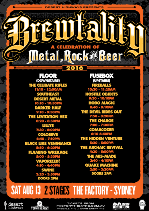 BREWTALITY FESTIVAL LINE UP