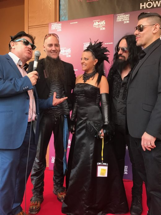 On the red carpet st Australian Independent Music Awards